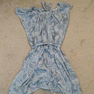 Blue and grey Lauren Conrad dress
